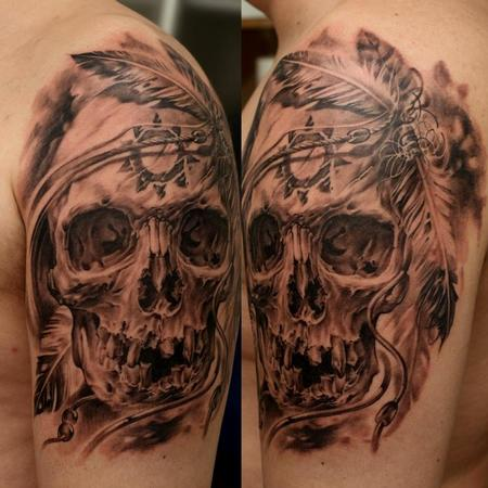tattoos/ - Indian Skull - 63848